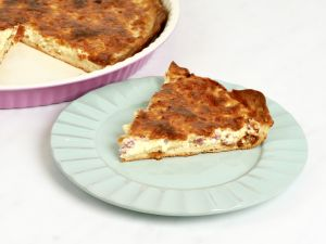 Kinder kochen Quiche