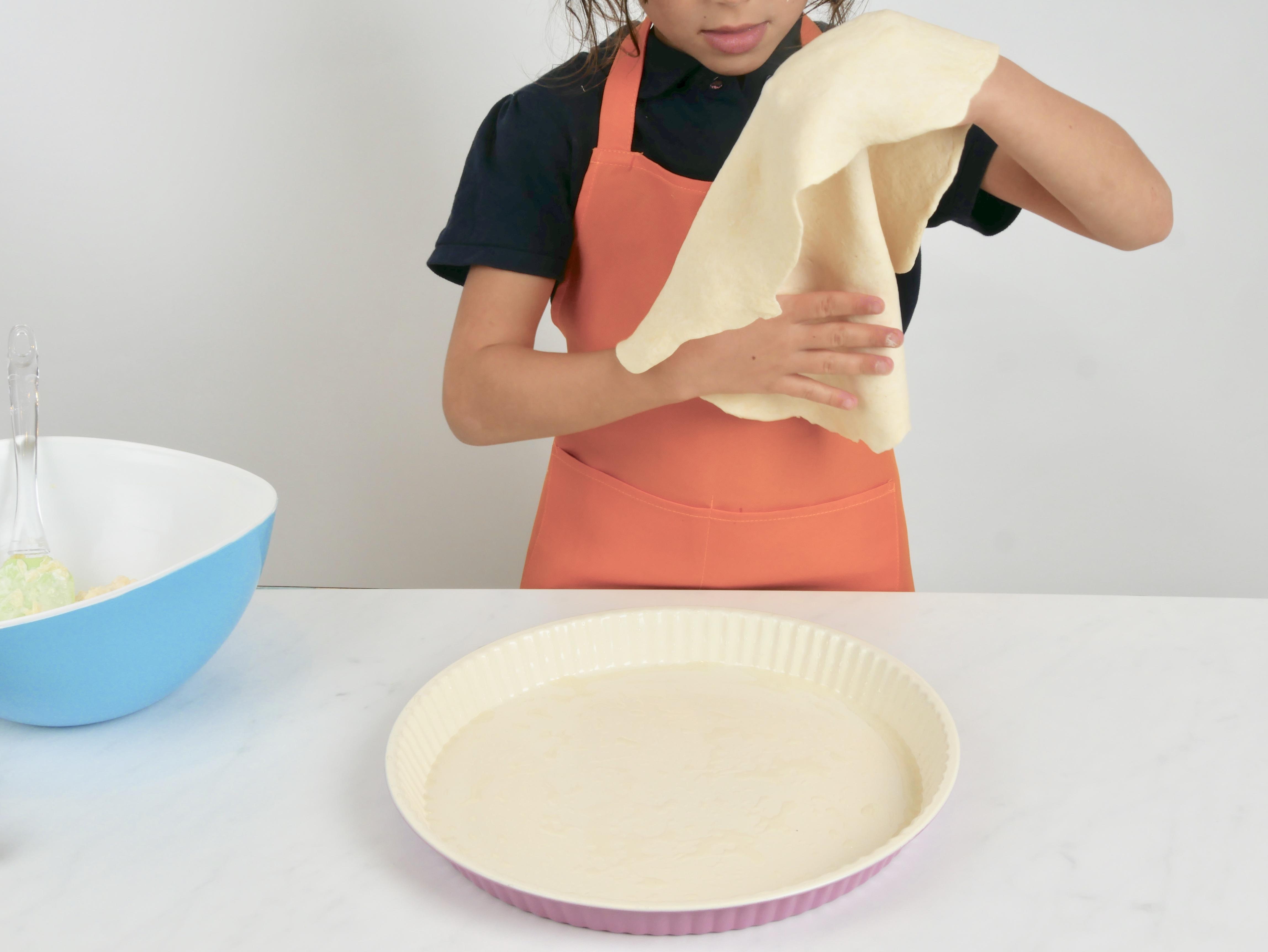 Kinder kochen Quiche