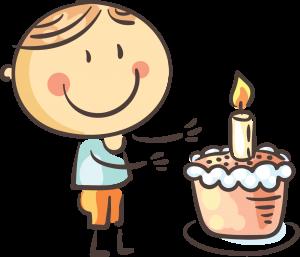 Kinder backen Torte