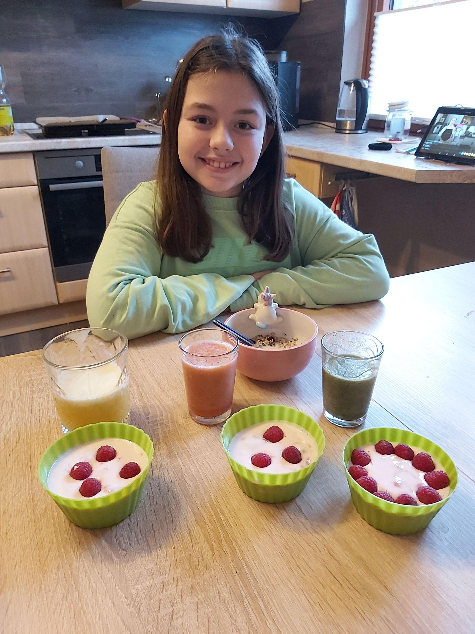 Frühstück von Kindern selbst gemacht